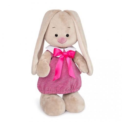 Зайка Ми в платье в розовую полоску