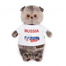 Басик в футболке Россия