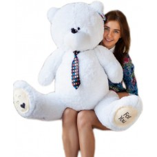 Большой мишка Тедди (Teddy) белый 130 см
