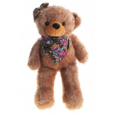 Медведь коричневый с бантом на голове в косынке 74 см