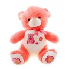 Мишка плюшевый розовый 55 см