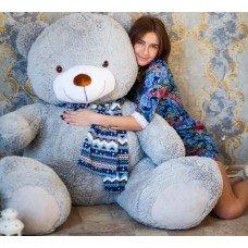 Гигантский плюшевый медведь 170 см (серый)