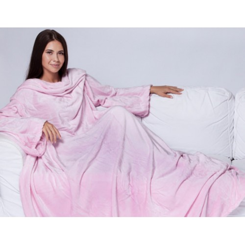Плед с рукавами розовый