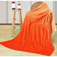 Плед с рукавами оранжевый градиент